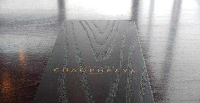 Menu a Chaophraya Thai Restaurant Edinburgh