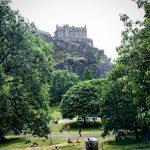 Image illustrating the best Instagram spots in Edinburgh for instagram photographers - Edinburgh Castle seen from West Princes Street Gardens